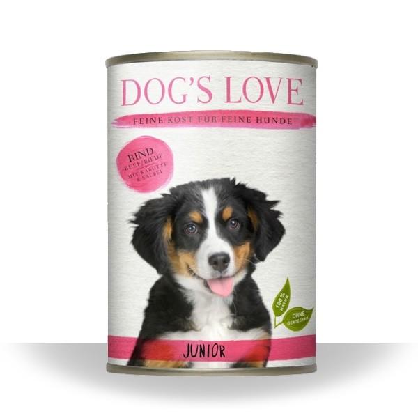 Dogs Love Nassfutter Junior Rind
