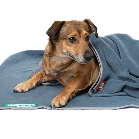 Doctor Bark Kuscheldecke Fleece Blaugrau
