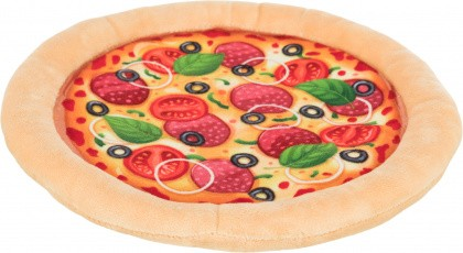Hundespielzeug Knister-Pizza
