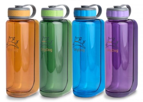 Wasserflasche mit Trinkschale Uni 1000ml