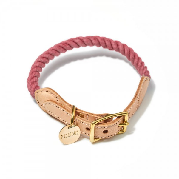Found my animal Halsband Rope Nantucket Red up-cycled