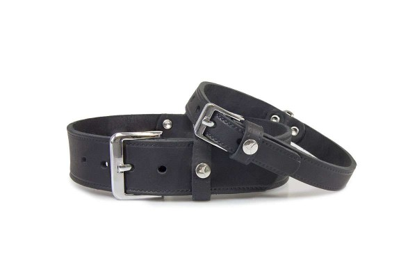Leder-Hundehalsband Weinheim Black