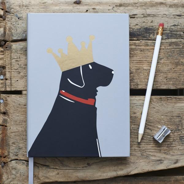 Sweet Williams Notizbuch Labrador, schwarz