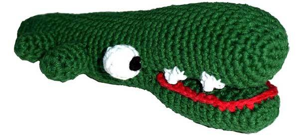 Häkelspielzeug Krokodil