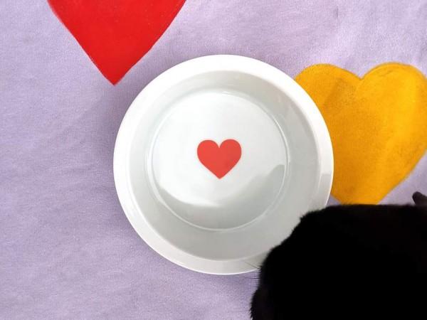 dogbar Porzellan-Ersatznapf mit Herz