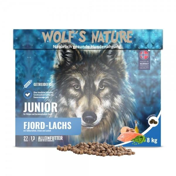 Wolf's Nature Trockenfutter Fjord Lachs Junior