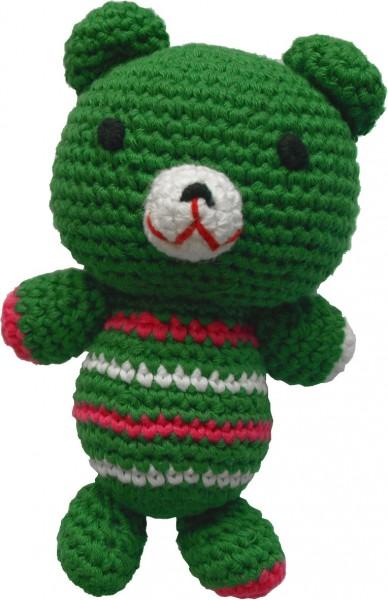 Häkelspielzeug Teddy grün