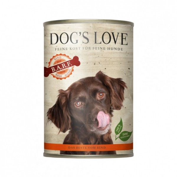 Dogs Love Nassfutter BARF Rind