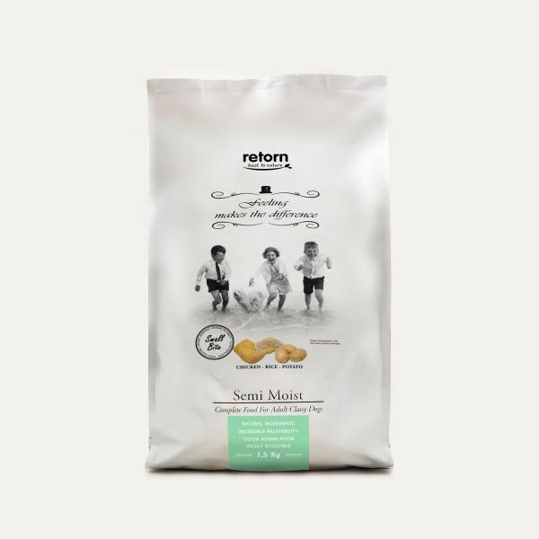 Retorn Halbfeuchtes Hundefutter Hähnchen-Reis-Kartoffel