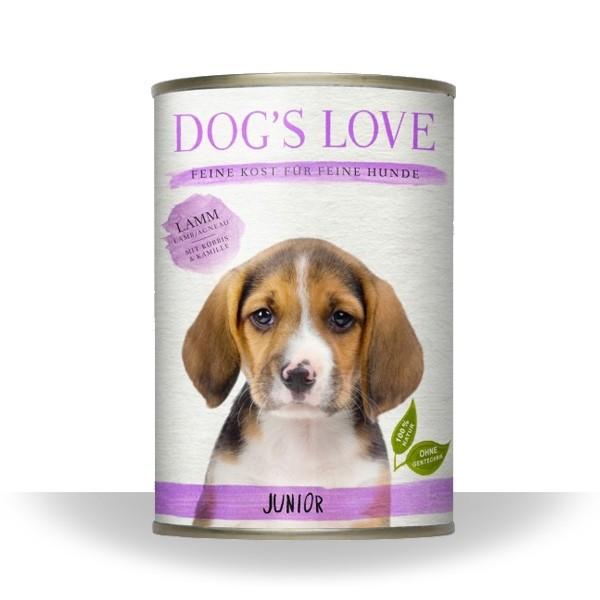 Dogs Love Nassfutter Junior Lamm
