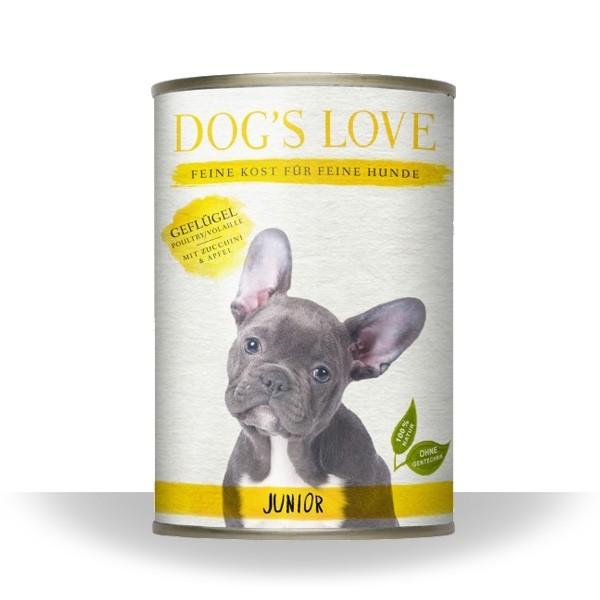 Dogs Love Nassfutter Junior Geflügel