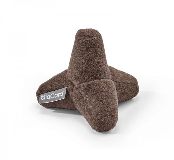 MiaCara Hundespielzeug Quattro, Braun meliert