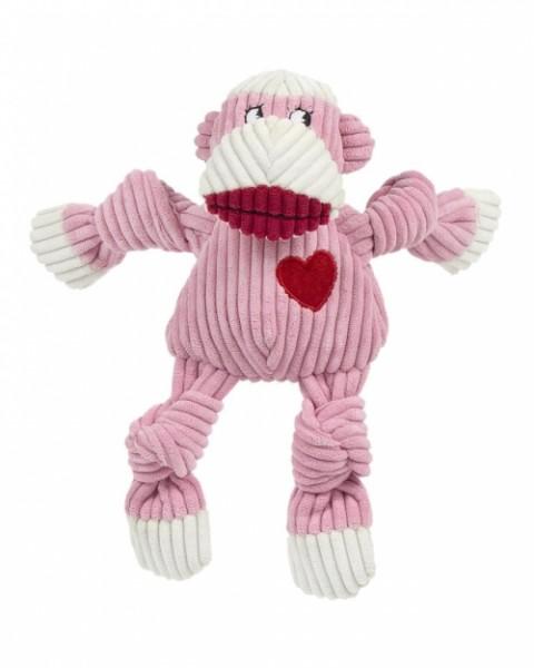 Hundespielzeug Ms Sock Knotties Affe Pink