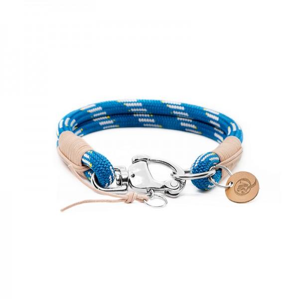 Q3N Halsband Sylter Strick Deluxe Königsblau