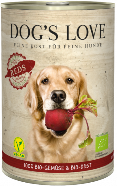 Dogs Love BIO REDS, 100% BIO Gemüse+Obst
